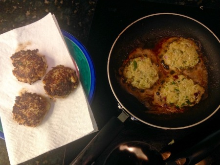 cooking-kohlrabi-cakes-in-skillet
