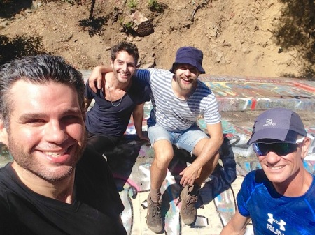 david-jeff-tavi-jonathan-roof-hike
