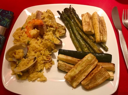 paella-and-dark-chocolate-balsamic-vegetables