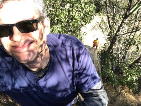 ladder-selfie-griffith-park
