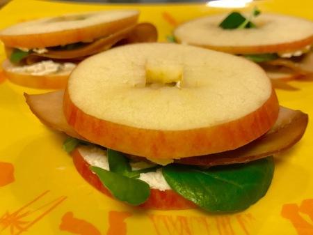 turkey-cheese-applewich
