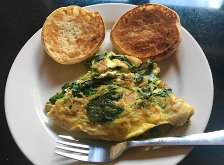 spinach-onion-omelette